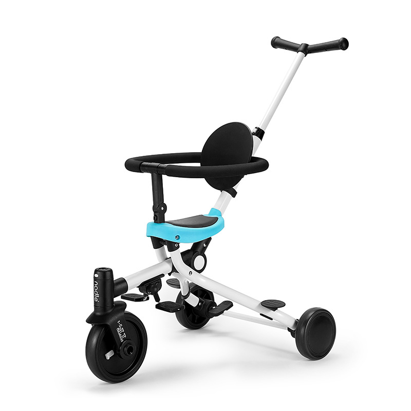Nadle hand push tricycle 2 in 1 kid car foldable lightweight two way stroller multi-function child walking artifact