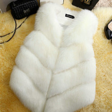 Модная женская меховая жилетка из натурального шуба из искусственного лисьего меха, зимняя теплая куртка, жилетка для женщин