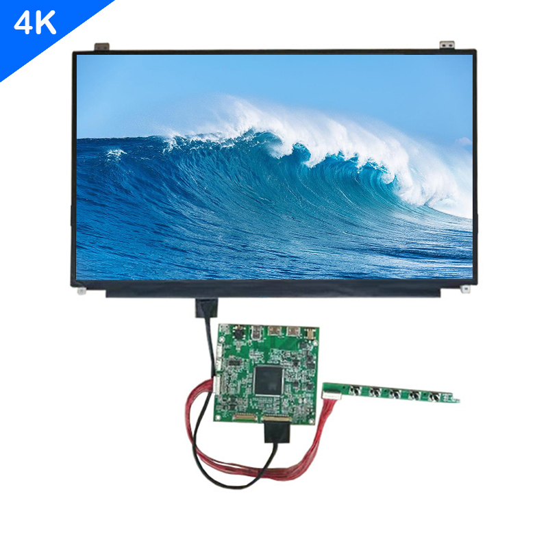ZHIXIANDA 15.6inch screen 4k UHD 3840*2160 laptop led lcd display with 4k Control mainboard support HDMI DP USB interface title=