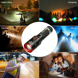 Image 5 - Waterproof 5200LM USB Rechargeable Flash light XML T6 Led Flashlight Zoomable 3 modes torch for 18650 with USB cable Camping z40