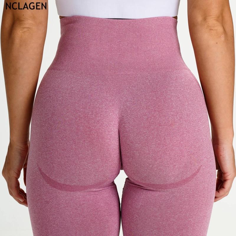 NCLAGEN Seamless Knitting Sexy Yoga Pants Butt Lifting Sexy Woman Gym Sport Sweat Workout Running High