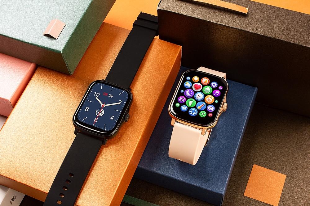 Hcfe8ca551fef476db6e13c6a8ea4117el COLMI P8 Plus 1.69 inch 2021 Smart Watch Men Full Touch Fitness Tracker IP67 waterproof Women GTS 2 Smartwatch for Xiaomi phone