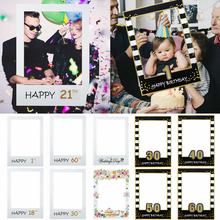 1pc 48*68cm photo booth quadro adereços crianças adulto aniversário para 1st 21th 30th 40th 60th foto prop suprimentos festa de casamento decoração