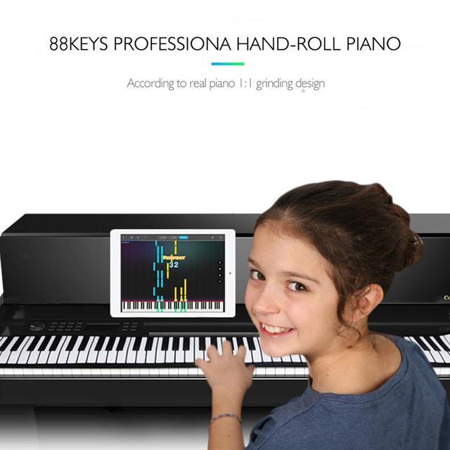 88คีย์ซิลิโคนยืดหยุ่นมือเปียโนนุ่มแบบพกพาคีย์บอร์ดอิเล็กทรอนิกส์ออร์แกนของขวัญเด็กนักเรียน