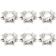 1PC Spike Punk Ear Piercing Body Jewelry Punk Ear Cartilage Tragus Barbell Bar Earrings 316L Surgical Steel Ear Studs Piercings 1 2mm 316l surgical steel scorpion pattern ear bar stud silver black