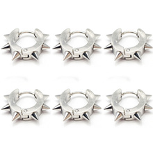 1PC Spike Punk Ear Piercing Body Jewelry Cartilage Tragus Barbell Bar Earrings 316L Surgical Steel Studs Piercings