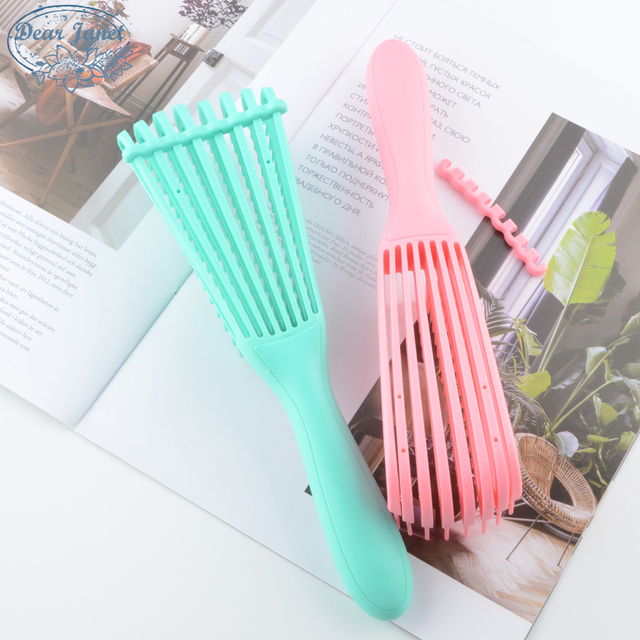 1pc Green/Pink Detangling Hair Brush Handle Bright colors Magic Tangle Comb Shower Massage scalp Comb Salon Hairdressing Octopus