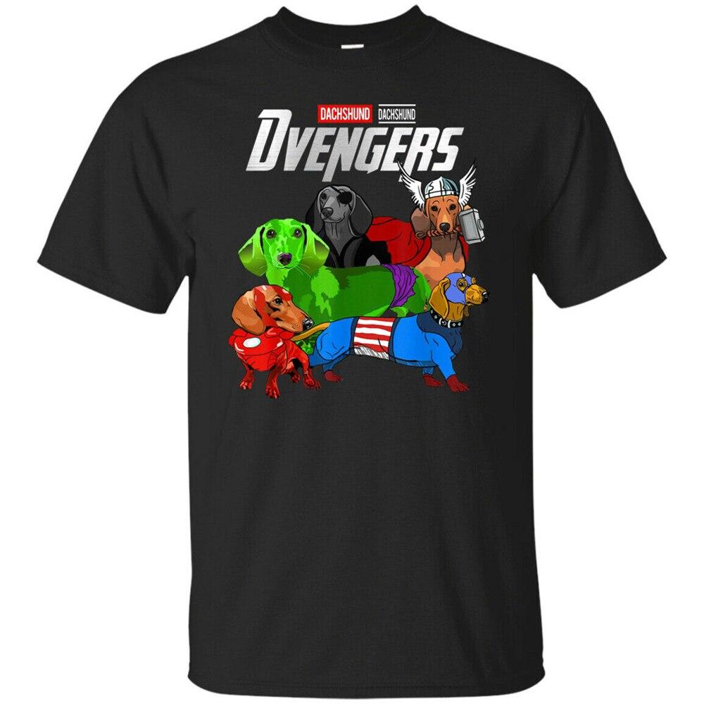 Dvengers Tshirt Funny Dog Dachshund Men'S T Shirt Size S - 3Xl Superior Quality Tee Shirt