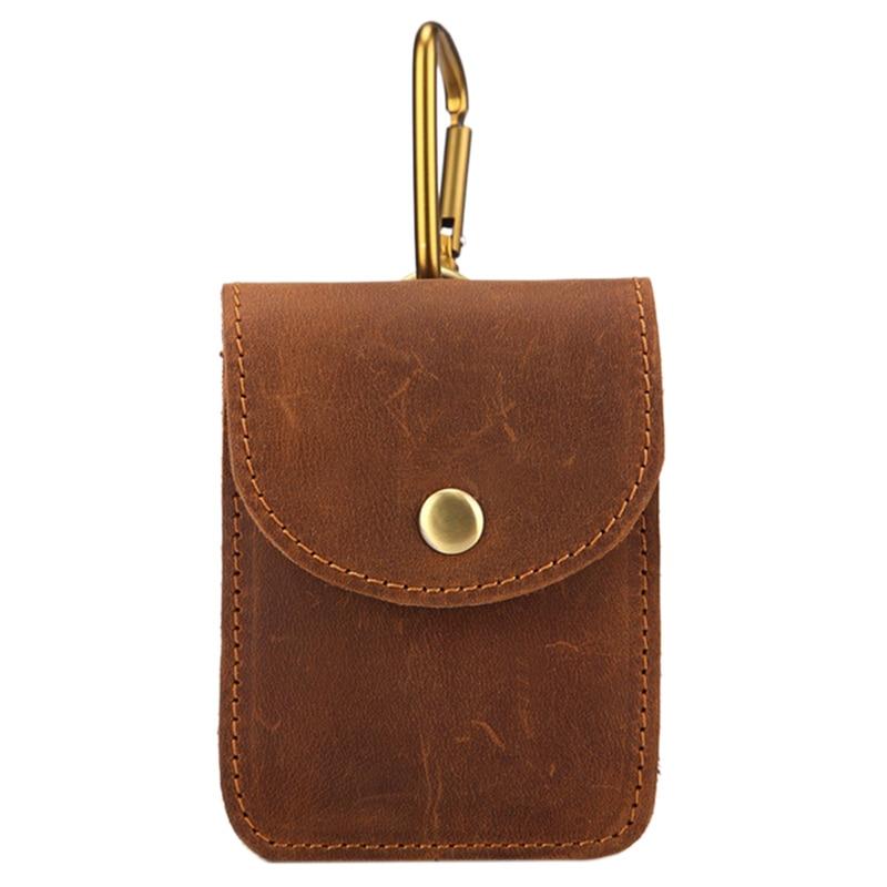 MISFITS Leather Small Bag Pockets Mens Cigarette Bag Casual Pockets Men's Retro Belt Bag Hip Bag