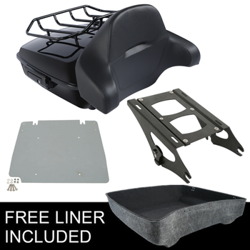 Motorcycle Chopped Pack Trunk Backrest Rack For Harley Tour Pak Road King Road Glide Electra Glide 2014-2020
