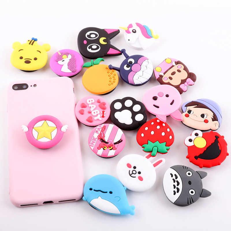 Đa Năng Di Động Ổ Cắm Điện Thoại Gasbag Chân Đế Mở Rộng Ngón Tay Ô Tô Cho iPhone 8 7 6 XS Xiaomi Hoạt Hình Hello Kitty Doraemon