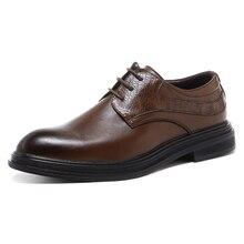 Zapatos de vestir para hombres hechos a mano estilo británico Paty zapatos de boda de cuero otoño hombres pisos de cuero Oxfords zapatos formales