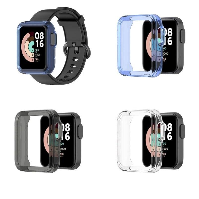 Ультра-тонкий ТПУ Корпус часов Защитная крышка для Xiaomi Mi часы Lite глобальная версия для Redmi аксессуары для часов