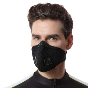 10Pcs Black Block Flu Face Mouth Mask Dust Washable Reusable Mesh Masks Men Women Mouth Muffle Mask