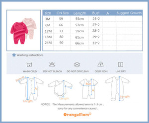 Image 5 - Baby Knitted rompers Pure Cotton Babies Clothing Newborn Baby Girls Knitting Wool long sleeves autumn jumpsuit Knitwear 0 24m