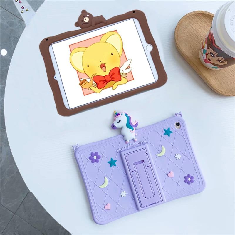 Funda de silicona A prueba de golpes para Samsung Galaxy Tab A para niños, funda protectora para tableta de 8,0 pulgadas, 2019 SM-T295, T290, T295
