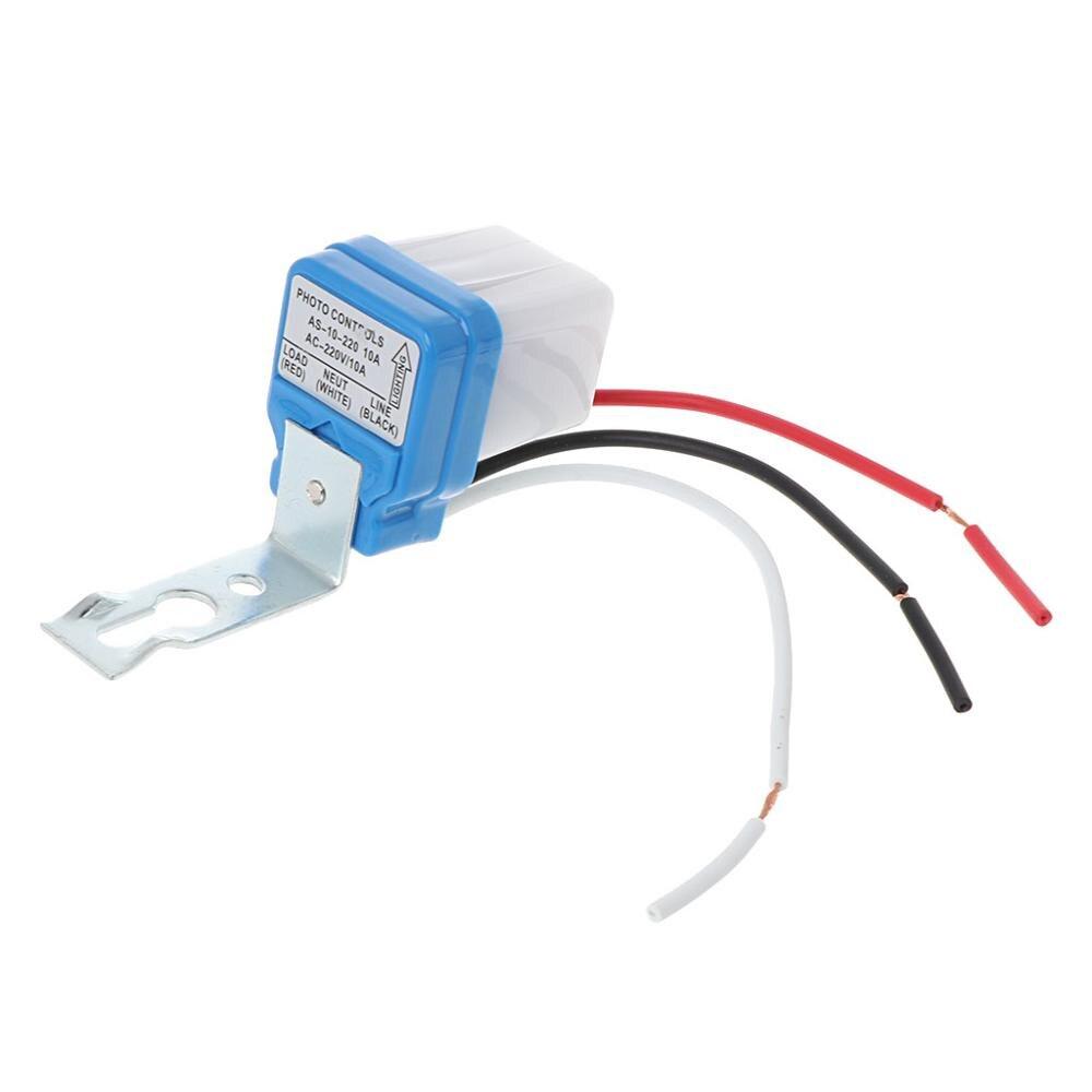 AC DC 220V 10A Auto On Off Photocell Street Light Photoswitch Sensor Switch