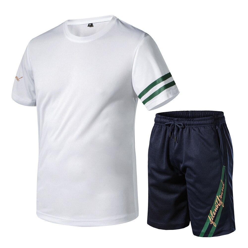 2019 Summer New Style Men's Ouma Set Quick-Drying Fabric Two-Piece Set Sports Running Set Men