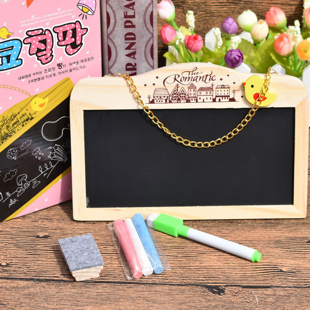 Writing Magnetic Party With Eraser Hanging Blackboard Bar Decorative Coffee Shop Restaurant Wooden Double Sided Mini