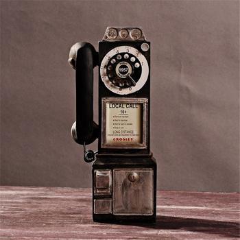 Nowoczesne rzeźby z żywicy vintage artykuły spożywcze dekoracje domu dekoracje rękodzieła stare i brudne rękodzieło telefony hom tanie i dobre opinie CN (pochodzenie) Synthetic resin Painted