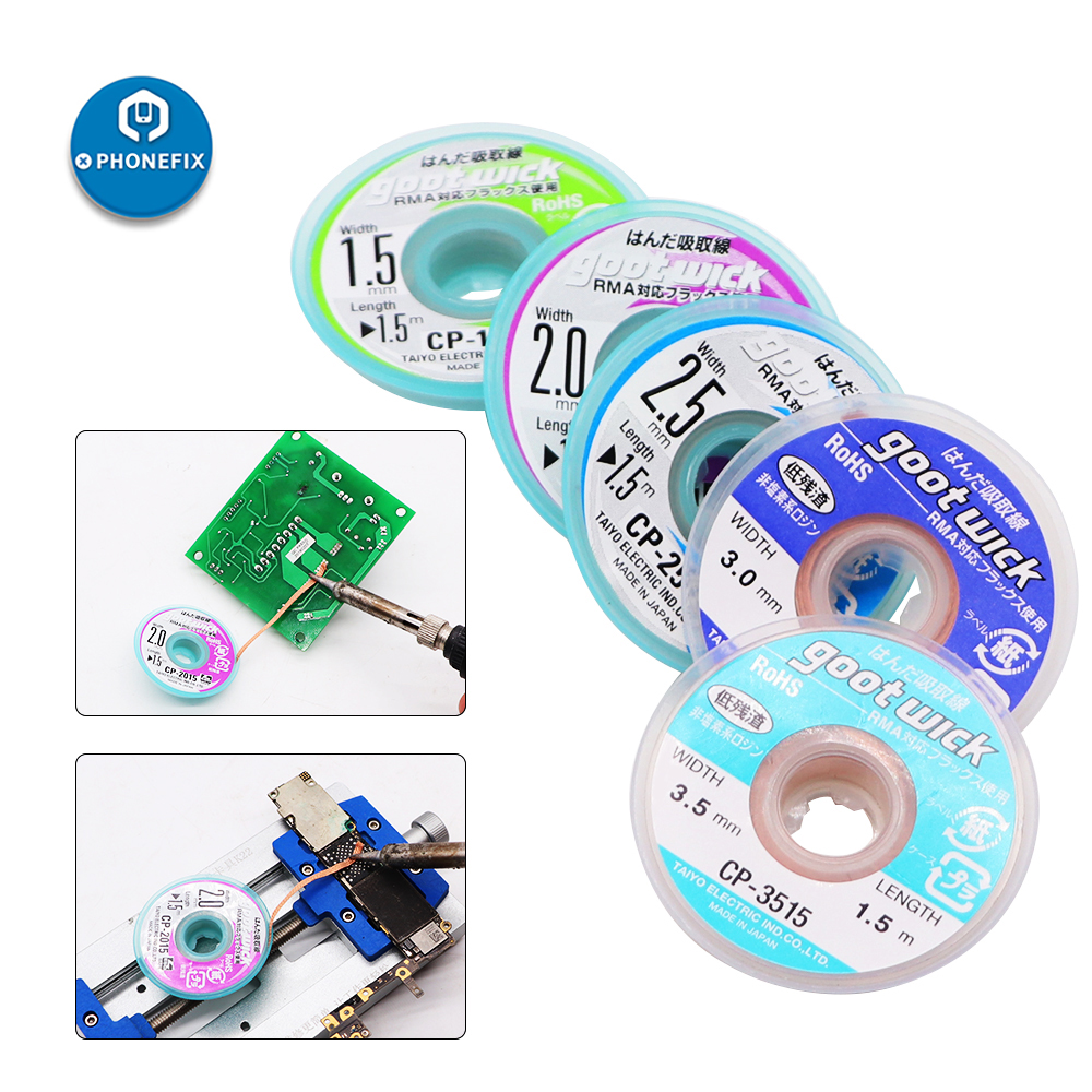 Desoldering Braid Solder Remover High Quality Sucking Tin Wire BGA Absorbtion Line 1.5-3.5CM Width Solder Wire For Phone Repair