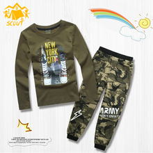 2019 spring, summer and autumn childrens wear sports casual pants T-shirt long sleeves