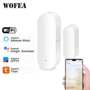 Wofea Door/Window Detector WiFi App Notification Alerts Battery Operated Home Security Sensor tuya support alexa google home(China)