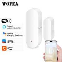 Wofea Tür/Fenster Detektor WiFi App Benachrichtigung Warnungen Batterie Betrieben Home Security Sensor tuya unterstützung alexa google hause