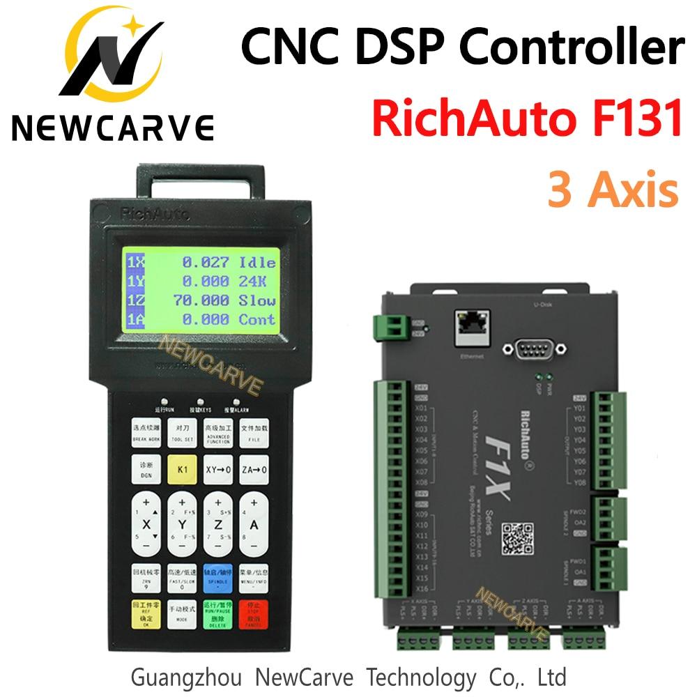 Система управления RichAuto DSP F131, 3-осевая система управления движением с ЧПУ, для замены A11 B51, для гравировального станка с ЧПУ, NEWCARVE