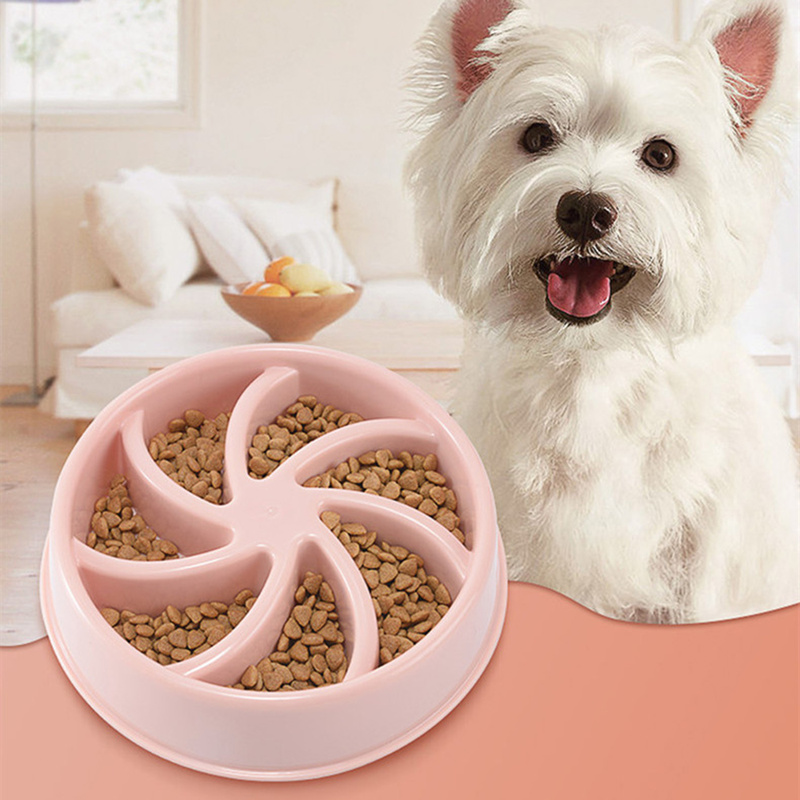 2019 新ペット犬ボウル遅いフィーダー抗窒息子犬猫食べる皿ボウル抗 Gulping 遅い食品プレートボウル犬ボウル