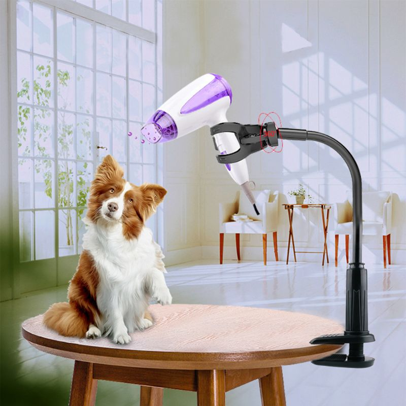 Rotatable Pet Hair Dryer Bracket <font><b>Dog</b></font> Cat Grooming Support Frame Pets Clothes Beauty <font><b>Table</b></font> Holder Q39B image