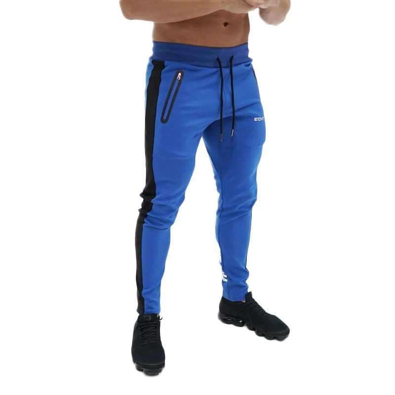 Autumn New Mens Cotton Jogger Sweatpants Fitness Bodybuilding Workout Trousers Male Casual Fashion Brand Skinny Pants