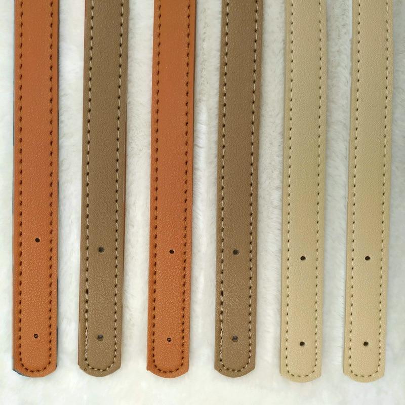 2pcs/pair 60cm PU Leather Bag Strap Belt Band Women Shoulder Bag Strap Handle 2019 Solid Handbag DIY Bag Accessories Anse De Sac
