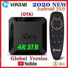 Vontar x96q android 10 smart tv box android 10.0 allwinner h313 tvbox media player quad core wifi youtube atualização de x96 mini