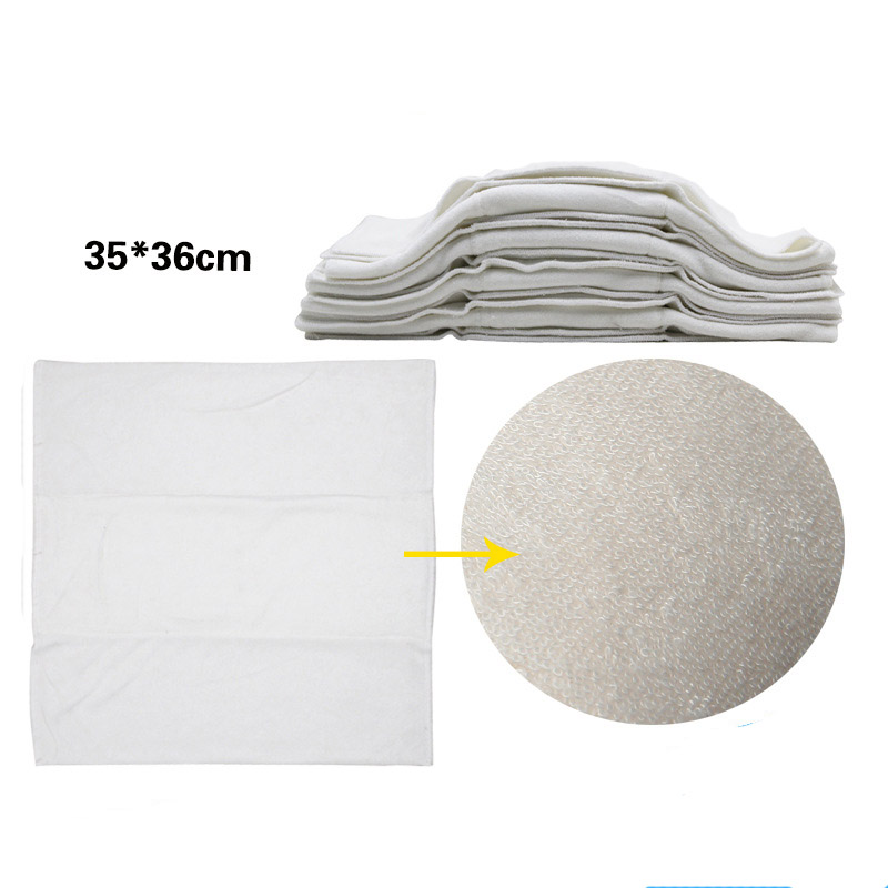 5PCS 100% Soft Unbleached Washable Bamboo Insert Soft And Fast Absorbency Baby Prefold Cloth Diaper Insert