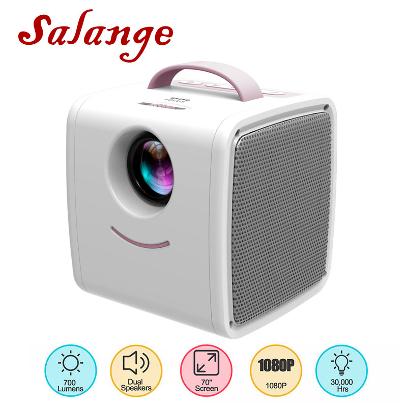 Salange Mini Projector Home-Theatre-System Portable Children Beamer Education Q2 LED