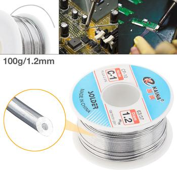 63 37 C-1 100g 1 2mm wysokiej czystości nie-czysty rdzeń żywiczny cyna lutownicza szpulka z drutem z 2 topnikiem i niską temperaturą topnienia do lutownicy tanie i dobre opinie NoEnName_Null PCB Circuit Board Cyny ULT_WES_12L 2 0