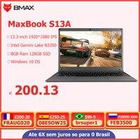 BMAX S13A 13.3 inch Intel N3350 Laptop window10 Notebook 8GB LPDDR4 128GB SSD 1920*1080 IPS Intel Laptops 1