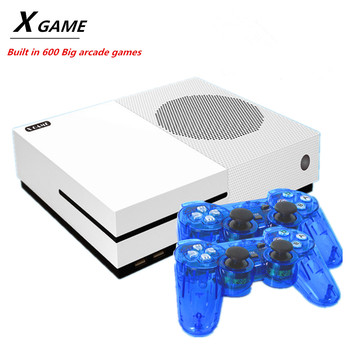 4K HDMI Output 64 bit X Game Console Dual gamepads Video Game Console Built-In 600 Big arcade games