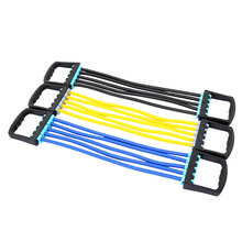 sport chest expander puller workout exercise fitness crossfit training resistance cable rope tube yoga 5 resistance bands хиты нового года комплект