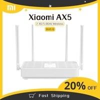 Nuovo Xiaomi Redmi Router AX5 Wifi 6 Mesh Gigabit 2.4G/5.0GHz Router Wireless Dual-Band ripetitore Wifi 4 antenne ad alto guadagno WIFI AX