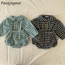 Костюм для новорожденных Infantil/детская одежда в клетку с длинными рукавами + шаровары комплекты одежды для маленьких девочек модный комплек...