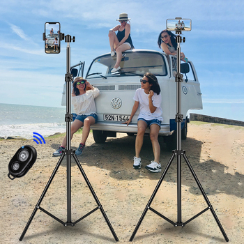 Tripod For Phone Tripod Stand Ring Light  1/4 Screw Head Flexible Selfie With Bluetooth Remote Control  Holder For Phone 1