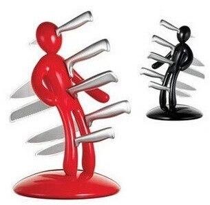 Porte-couteau d'aimant humain créatif d'acier inoxydable de couteau de 5 pièces avec le coupeur de personnalité de cuisine de 5 couteaux pour des approvisionnements de cadeau