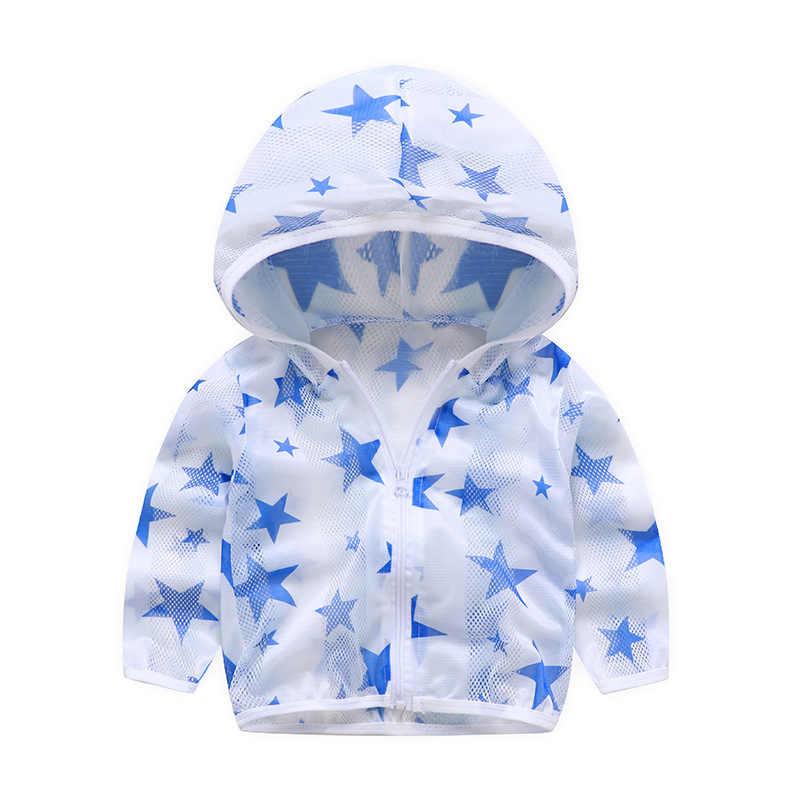 2020 ฤดูร้อนเด็กเสื้อผ้าป้องกันดวงอาทิตย์เด็ก Outwear แจ็คเก็ตเด็กชายหญิงการ์ตูนแขนยาวเครื่องปรับอากาศเสื้อ