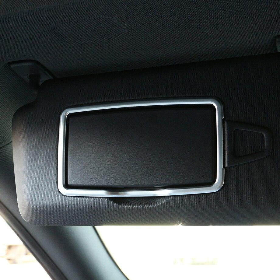2 adet krom araba iç aksesuarları makyaj aynası çerçeve Sticker Mercedes Benz için bir C CLA GLA GLC GLE ML aksesuarları