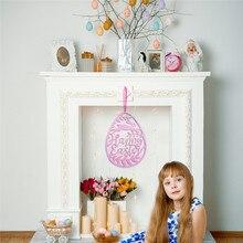 Rosa Ei Ostern Nicht-Woven Stoff Ornament Fühlte Kaninchen Szene Layout Dekoration Wand Anhänger Einfache Handwerk Hause Dekoration