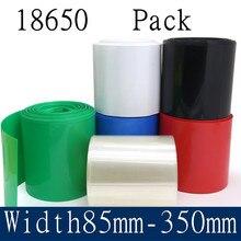 18650 Lipo Batterie PVC Thermorétractable Tube Pack 85mm ~ 350mm Largeur Isolé Pellicule De Film Au Lithium Cas Manchon de Câble Bleu Multicolore