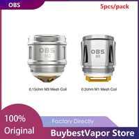 Original 5/10pcs OBS Draco Replacement Coil 0.2ohm M1 Mesh Coil/0.15ohm M3 Head for OBS Cube Kit/ Cube X Kit Vape Coil Vaporizer