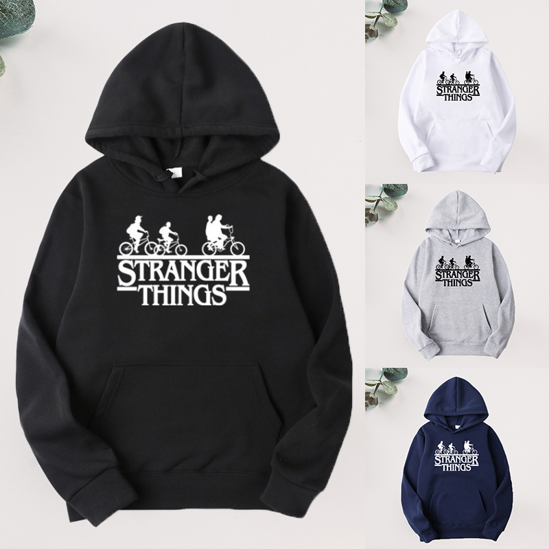 Fashion Hoodies Women Men Tranger Things Letter Printed Sweatshirt Kpop Brand Hoodie Mens Autumn Winter Hip Hop Oversized Hoodie